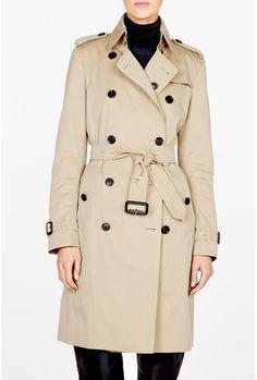 trench coats for women | Burberry Brit | Honey Cotton Trench Coat by Burberry Brit