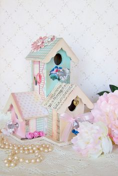 Shabby Bird House CondoStyle by BrendaAlanegifts on Etsy