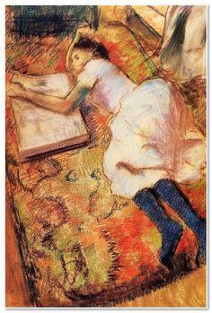 Reading, Edgar Degas