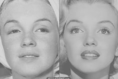 Marilyn, with or without make-up?