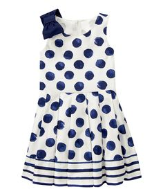 Gymboree Navy Polka Dot Dress - Girls | zulily