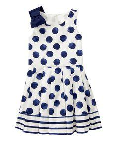Gymboree Navy Polka Dot Dress - Girls | zulily