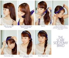 Scarf hair tutorial 3!