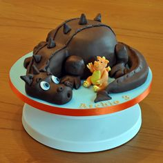 Dragon cake in chocolate sponge. An emergency cake made at VERY short notice.