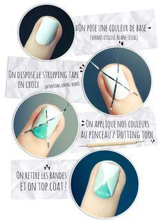 Tuto Nail art facile // Nail art aux couleurs de printemps | PSHIIIT