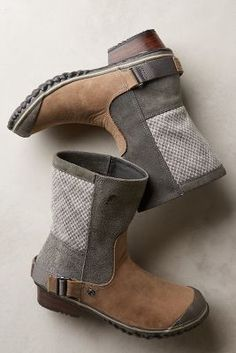 Sorel Slimshortie Boots Grey Boots #anthrofave #anthropologie