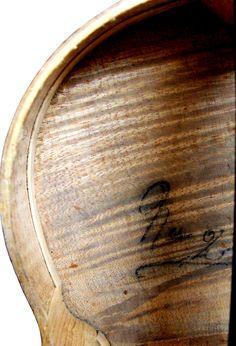 Violin by Jean Baptiste Vuillaume - (Serial No. 2) - Upper Bass Bouts Inside - Inscription