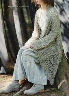 Crochet Vest for women -- charted pattern  may haps I can get some one who reads charts to make this for me????