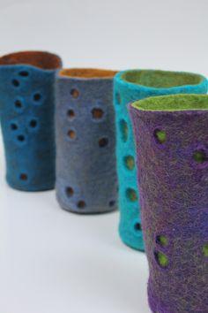 Wet felt vessels