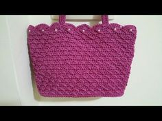 "Tutorial pochette ""Ambra"" uncinetto   How to make a crochet bag   Punto ventaglio    Katy Handmade - YouTube"
