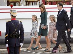 Spanish Royal Family attends National Day, Madrid, Spain, October 12, 2014-
