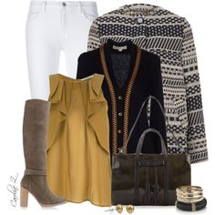 """""""White Bottoms With Boots"""" by carolinez1 on Polyvore"""