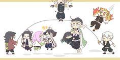 Kimetsu no Yaiba [Doujinshi] - Kawai Cùng Các Trụ Anime Chibi, Kawaii Anime, Manga Anime, Anime Art, Anime Bebe, Slayer Meme, Dragon Slayer, Fanart, Anime Demon