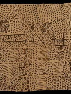 Detail of an early bogolan - mud cloth - from Mali. Held at the Musee Quai Branly, Paris and collected circa 1910.