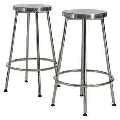 "Noble House Mayworth 29.5"" Barstool - Chrome(Set of 2)"