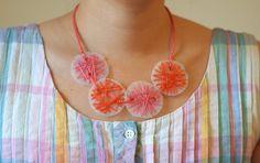 String art thread and milk jug necklace!