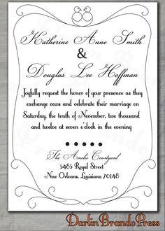 Sweet Birds Wedding Invitation