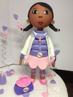 Doc McStuffins Fondant Cake/Cupcake Topper by HeavenlyCakesFL, $60.00