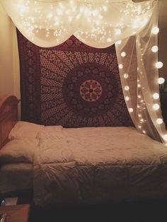 TumblrmjjieeykESqlttkiojpg  Pixels Decorating - Fairy lights bedroom ideas