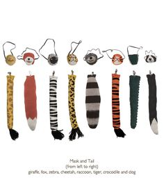 Oeuf Animal themed mask and tail set