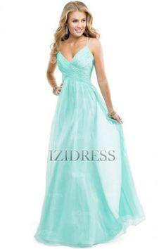 A-Line/Princess V-neck Chiffon Prom Dress - IZIDRESSES.COM at IZIDRESSES.com