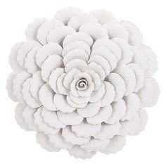 Wall Sculptures 166729: Imax Evington Large Porcelain Wall Art Flower, White -> BUY IT NOW ONLY: $56.17 on eBay!