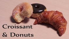 Miniature Cafe: Croissant & Donut from polymer clay tutorial