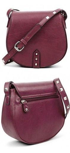 Studded Crossbody Handbag ♥ L.O.V.E. the Color & Shape!