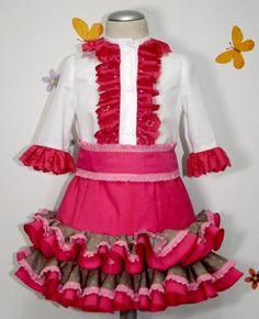Conjunto rociero falda y camisa para niña