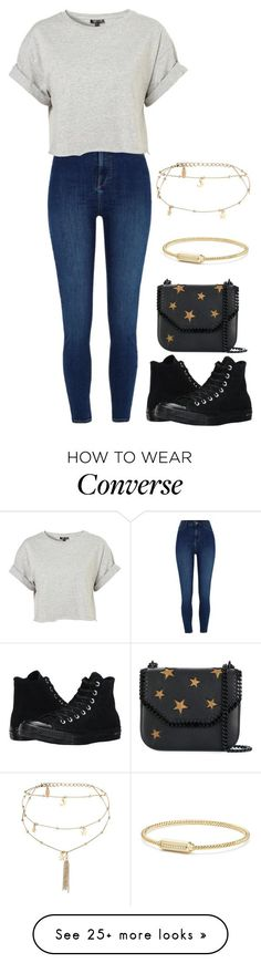 """Untitled #871"" by ayalikeschicken on Polyvore featuring River Island, Topshop, Ettika, Converse, STELLA McCARTNEY and David Yurman #fashionideas"