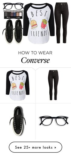 """coffee date with the bestie"" by j-n-a on Polyvore featuring Converse and NYX"