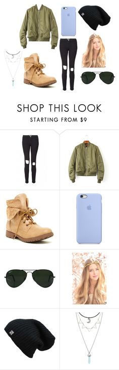 """Going Out"" by laurenisabae ❤ liked on Polyvore featuring Frame, Rock & Candy, Ray-Ban, Boots, skinnyjeans and bomberjacket"