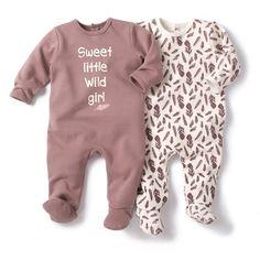 Babygrow em moletão (lote de 2) R Baby | La Redoute