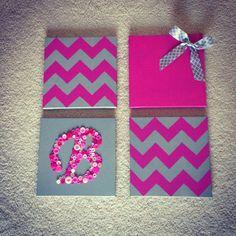 DIY baby girl room decor #baby #girl #DIY #babygirl #pink #babygirlroom #kids #b #chevron #ribbon
