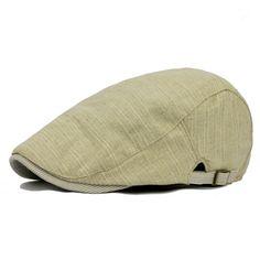 Cap Caballero hombres de algodón sombrero de la boina de la hebilla  ajustable Paper Boy Newsboy. BoinasCaballerosSombrerosTaxistaSombreros ... d0a1321ec34