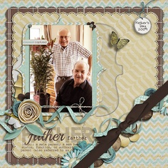 Gorgeous Scrapping Page...with unique corner & embellishments...Scrapbook.com.