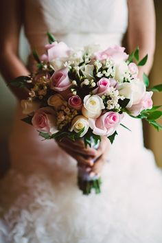 Charlotte Wedding Flowers Romantic - pink and white rose bridal bouquet. wedding at ballantyne Rose Bridal Bouquet, Bridal Flowers, Bouquet Wedding, Ivory Wedding, Home Wedding, Wedding Day, White Roses, Wedding Venues, Floral Wreath