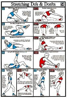 Streching mistakes  Link leads to a diet & exercise blog with recipies and help :)