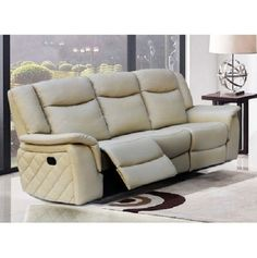TV Room Leather Sofa Reclining Modern Padded Quilted Home Theater Furniture Seat | Home & Garden, Furniture, Sofas, Loveseats & Chaises | eBay!