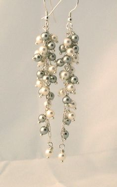 Dangly tapered earrings. I could make these. They're pretty- could I pull them off?
