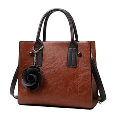 245cb573b0cf Women Vintage PU Leather Handbag Leisure Crossbody Bag is designer