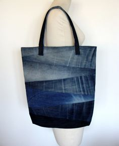 Big Denim Bag #7 - Nudakillers - Torby na ramię, #woman, #bag, #tote, #shopper, #denim, #handmade, #recycling, #nudakillers, #denimlove, #summerbags, #denimbags