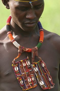 Pokot tribal jewelry of beads and shells....by Ferdinand Reus