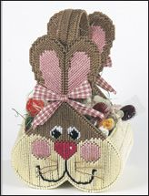 plastic canvas bunny bag