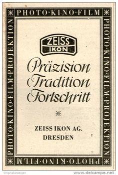 Original-Werbung / Inserat / Anzeige 1943 : ZEISS-IKON - ca. 45 x 90 mm