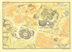 1933 Colosseum Domus Aurea and Bath of Trajan by CarambasVintage