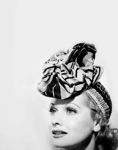 lucille ball, actress, woman, gorgeous, black and white, hat, face
