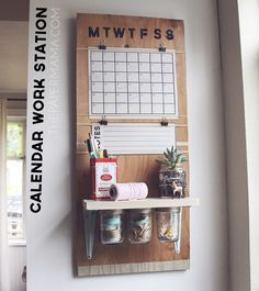 DIY-ify: Calendar Work Station for $15