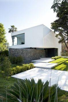 le minimalisme en architecture une jolie maison blanche de style elegant