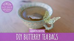 DIY Cute Butterfly Tea Bags ~ Are you entertaining guests or need gift making ideas? Ann shows us how to make cute butterfly teabags with our favorite tea. These will make great party favors! Don't you think? |  HGTV Handmade